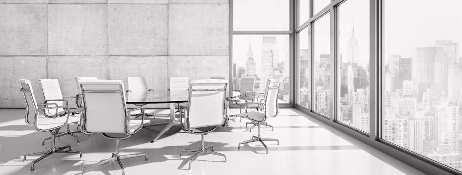 Chairs in a board room